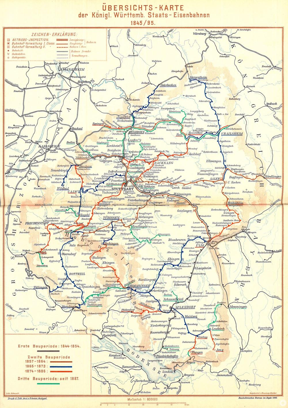 Eisenbahnkarte aus dem Jahr 1895