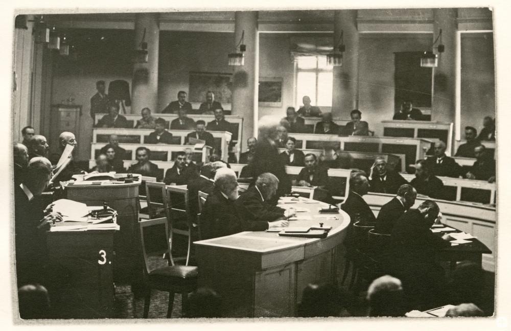 Laura Schradin als Landtagsabgeordnete, 1919