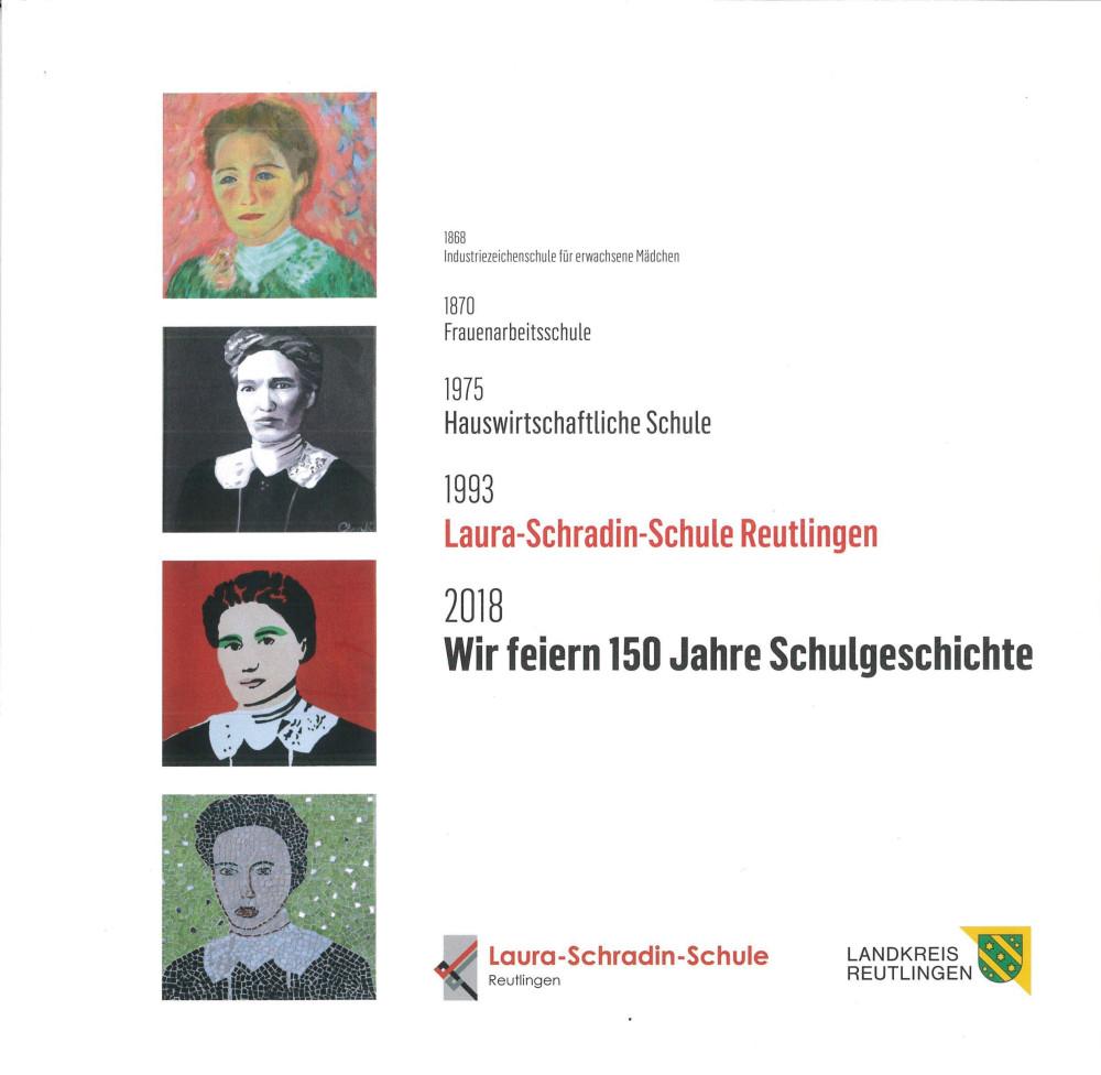 Titelblatt der Festschrift 150 Jahre Laura-Schradin-Schule