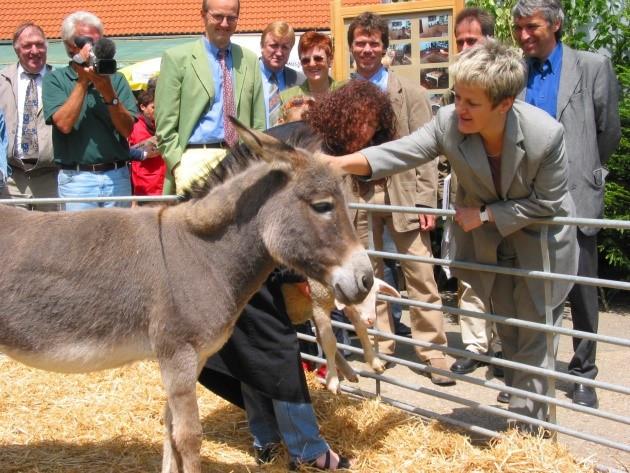 Renate Künast auf der Schwäbischen Alb bei der Auftaktveranstaltung von REGIONEN AKTIV im Jahr 2002