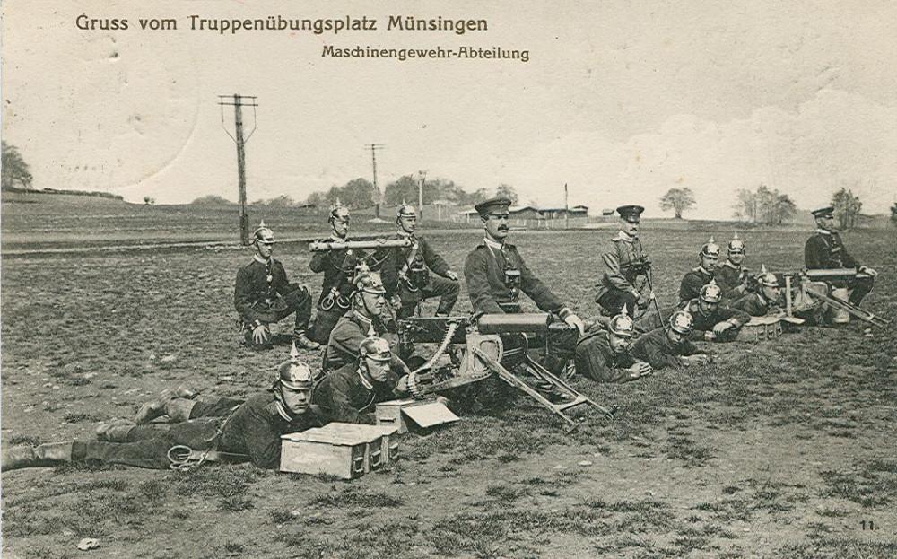 Die Maschinengewehr-Abteilung, um 1913 (KART S 6 Nr. 910)