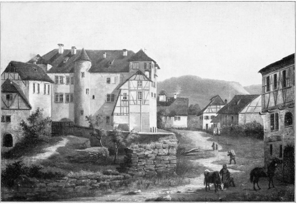 Der verbliebene Teil des Schlosses Mitte des 19. Jahrhunderts
