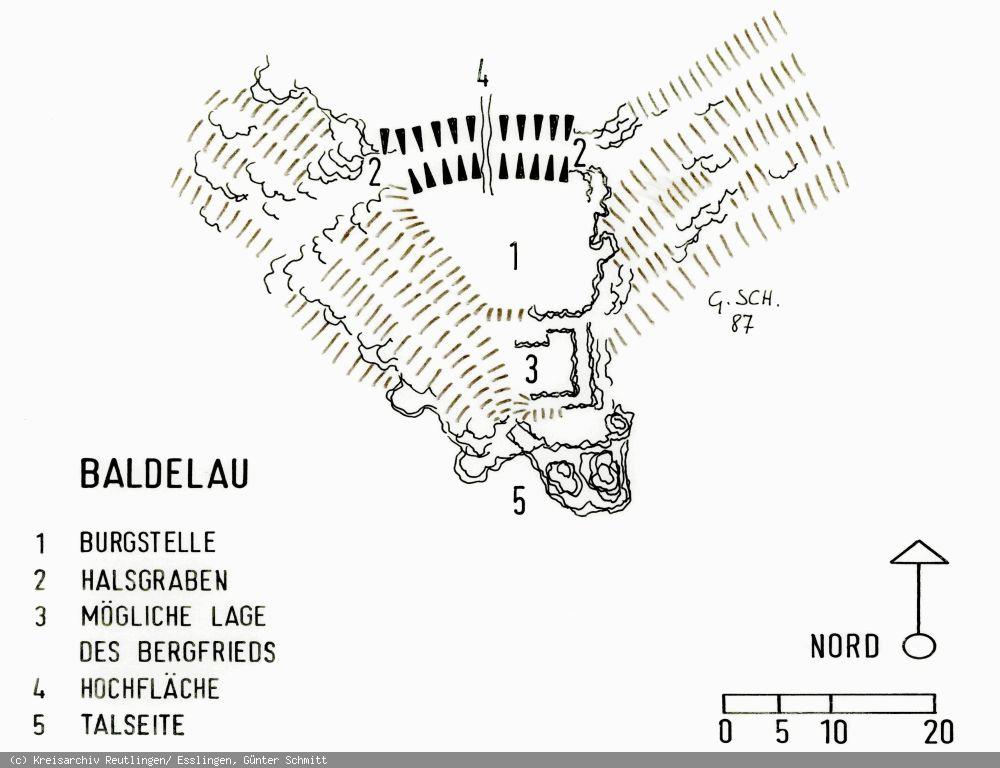 Grundriss der Burg Baldelau