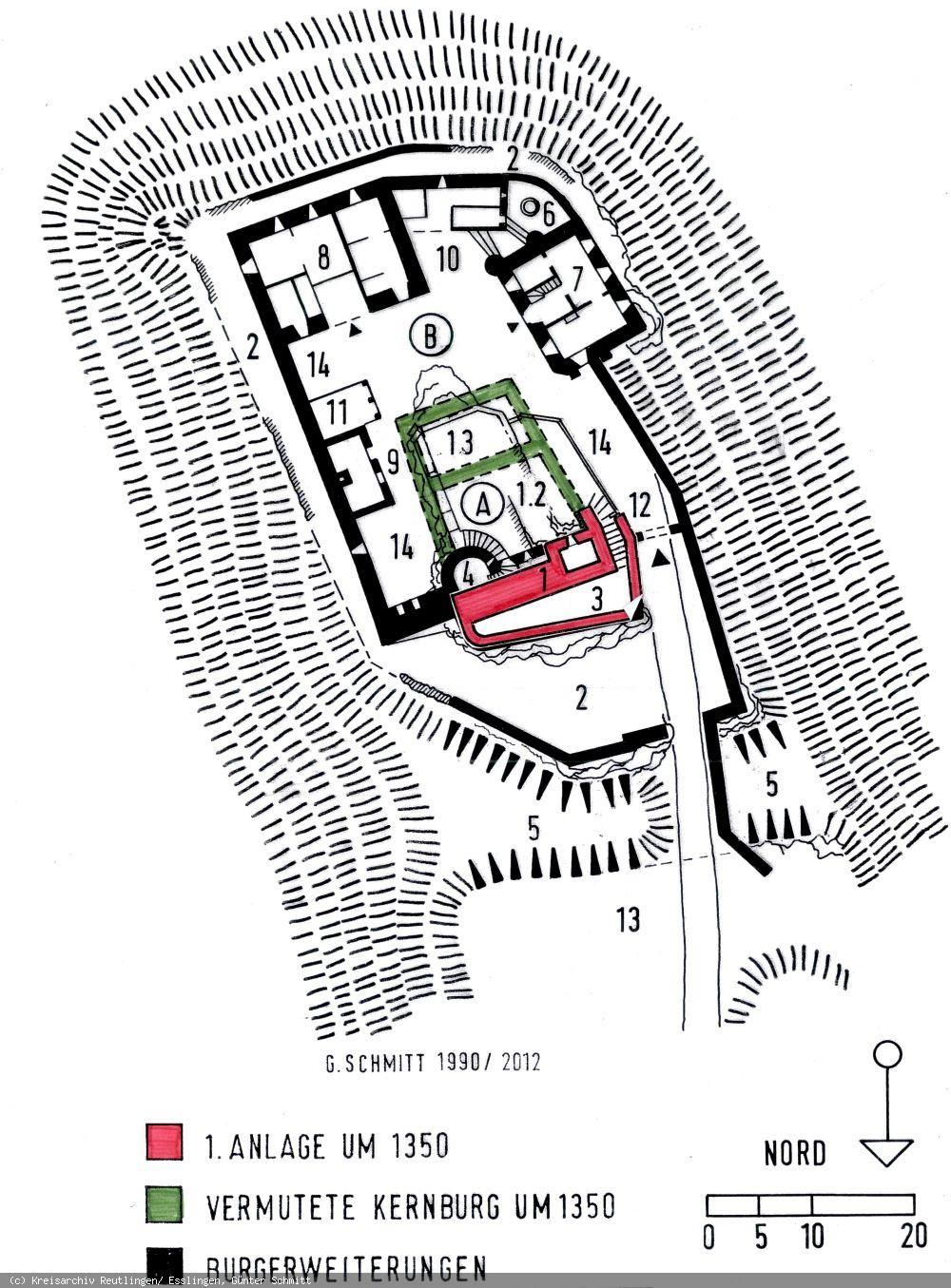 Grundriss der Burg Derneck