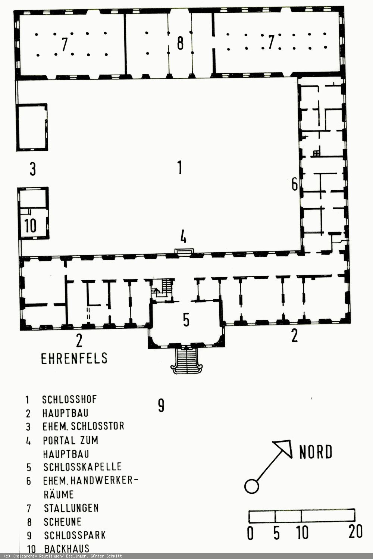 Grundriss des Schlosses Ehrenfels