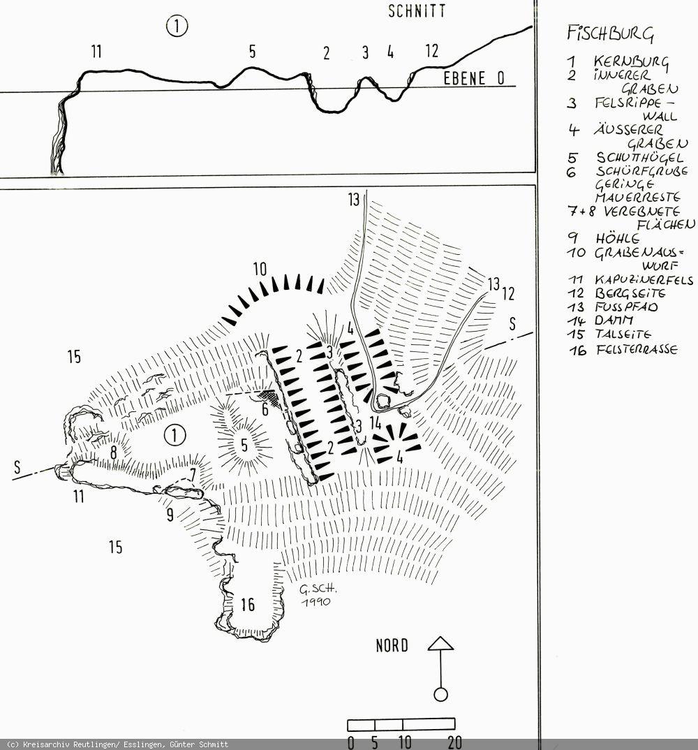 Grundriss der Fischburg