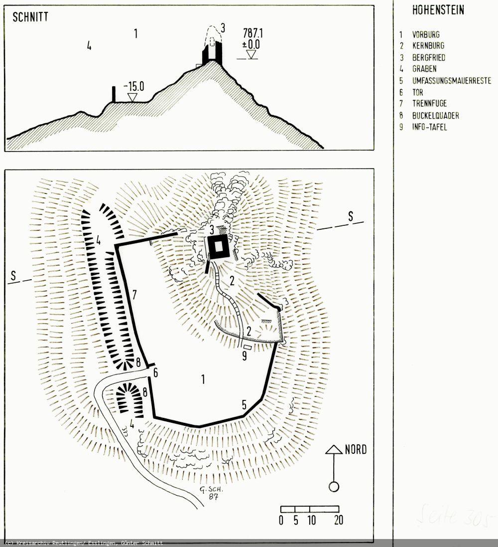 Grundriss der Burg Hohenstein