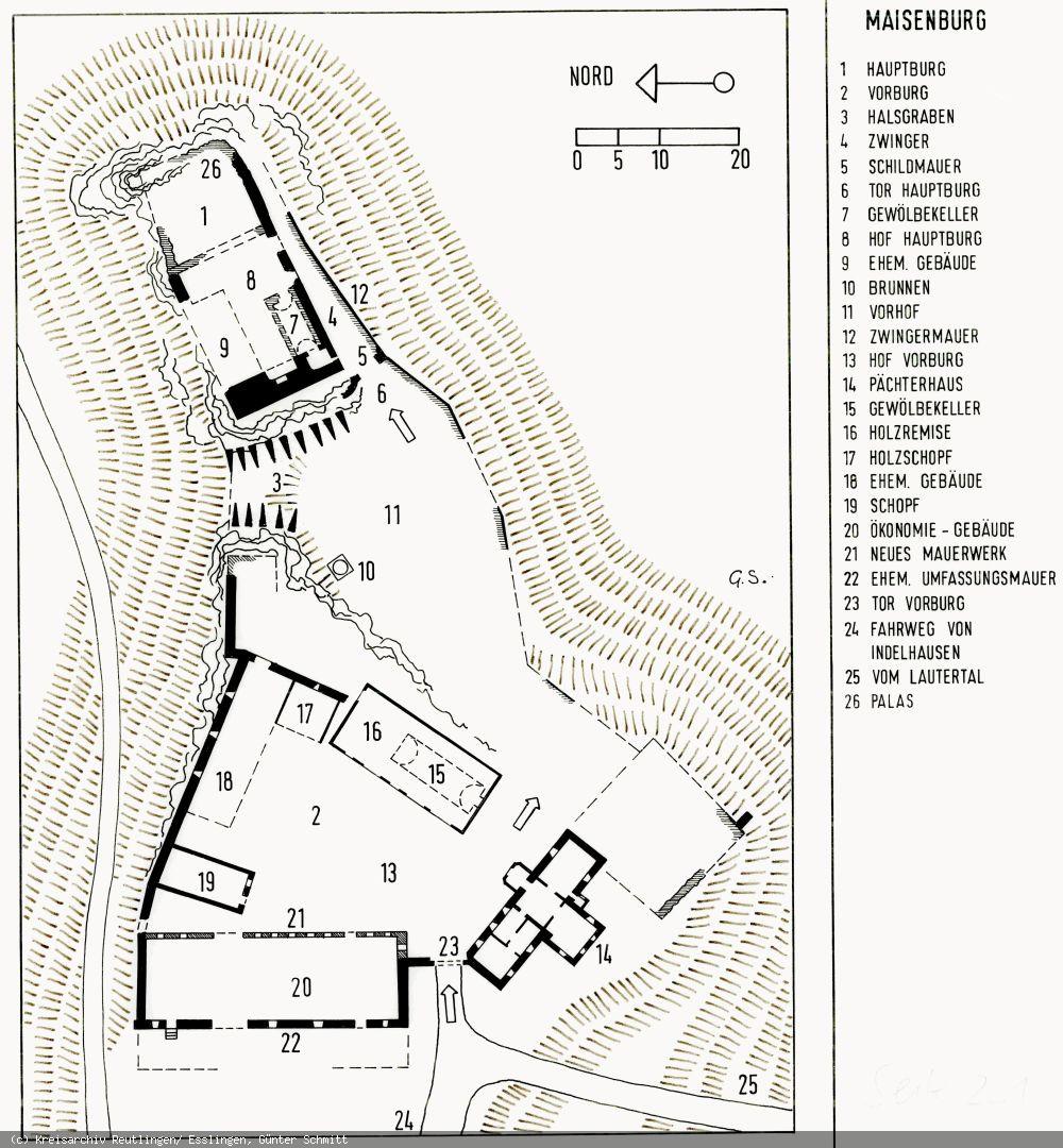 Lageplan der Maisenburg