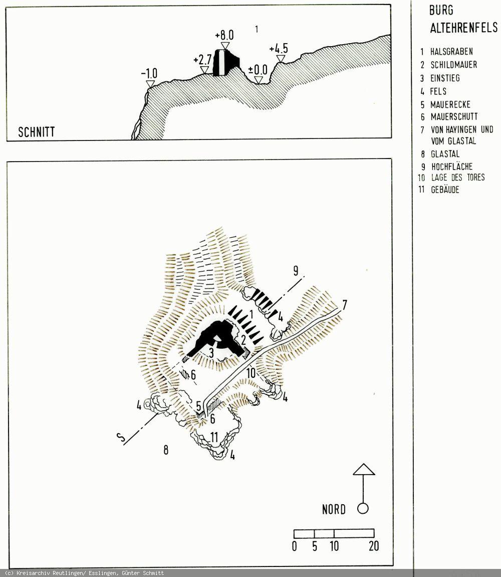Grundriss der Burg Alt-Ehrenfels