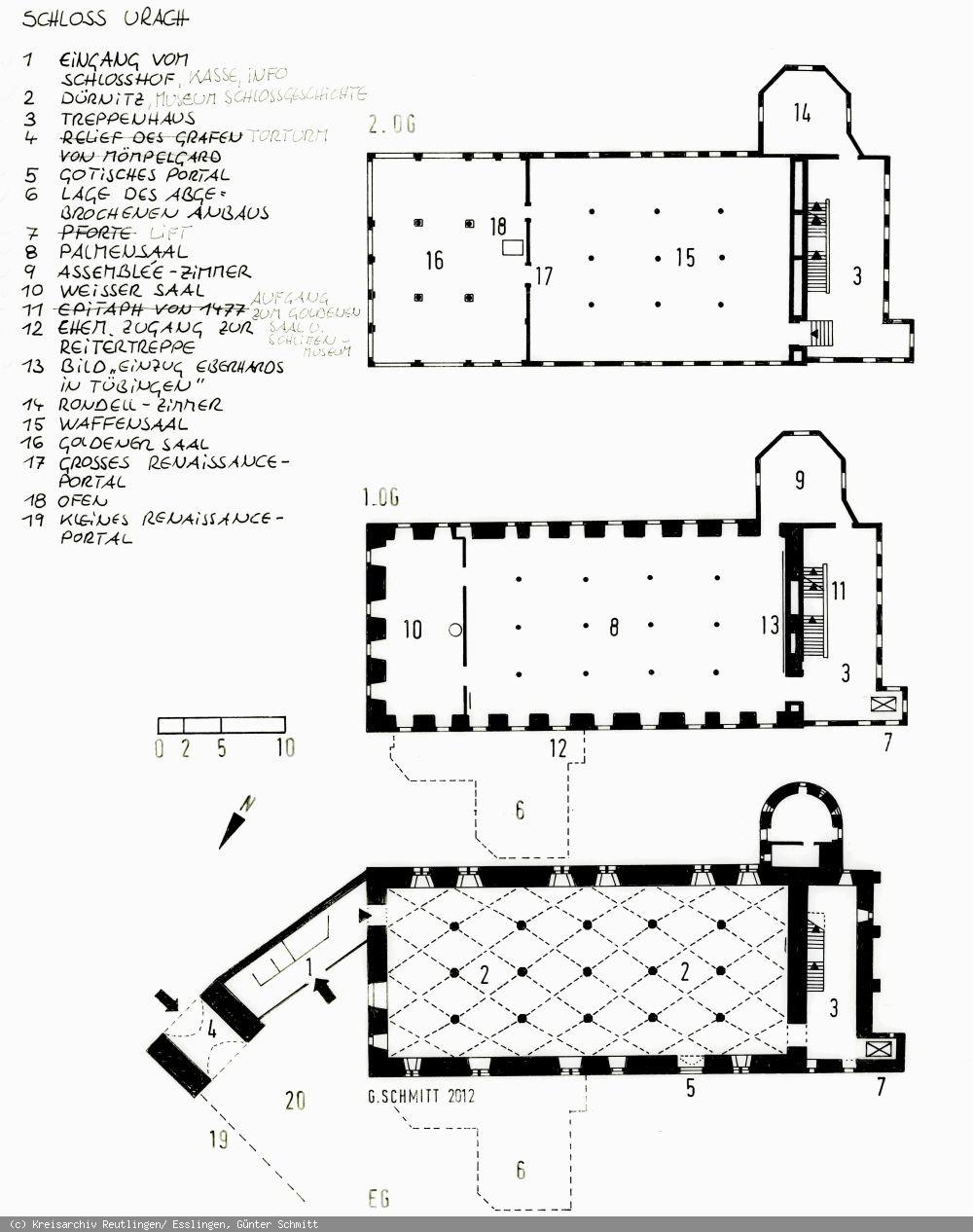 Grundriss des Schlosses Urach