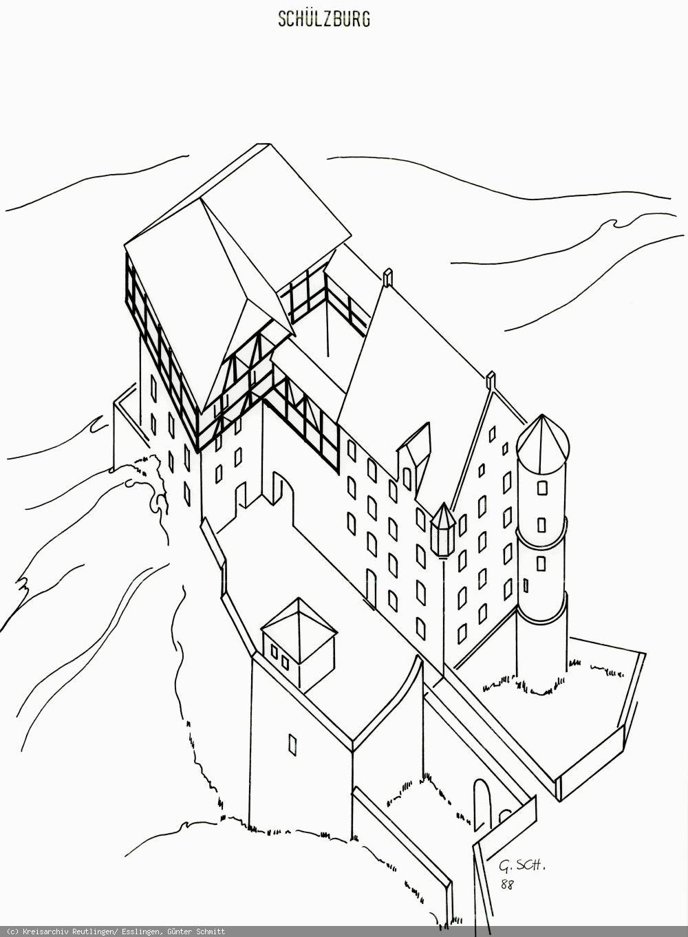 Rekonstruktion der Schülzburg