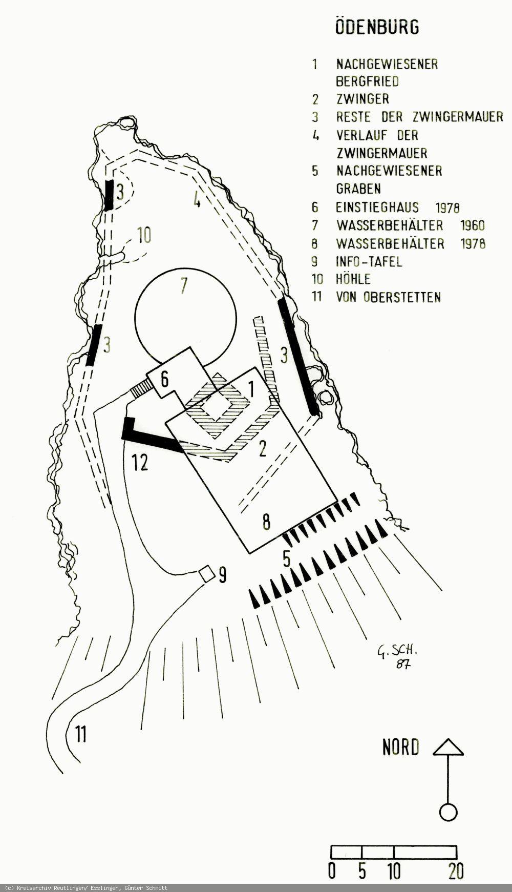 Lageplan der Ödenburg