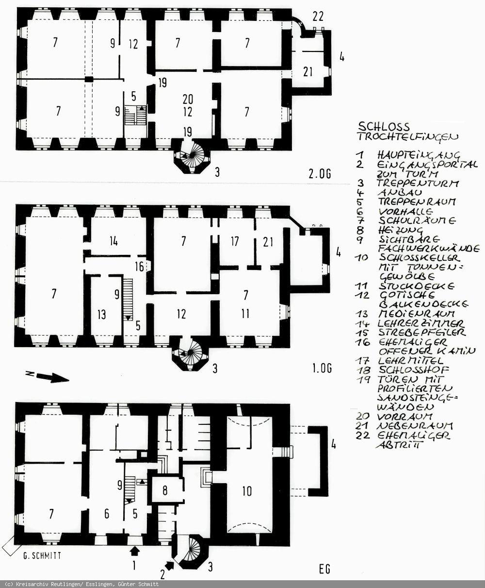 Lageplan des Schlosses Trochtelfingen