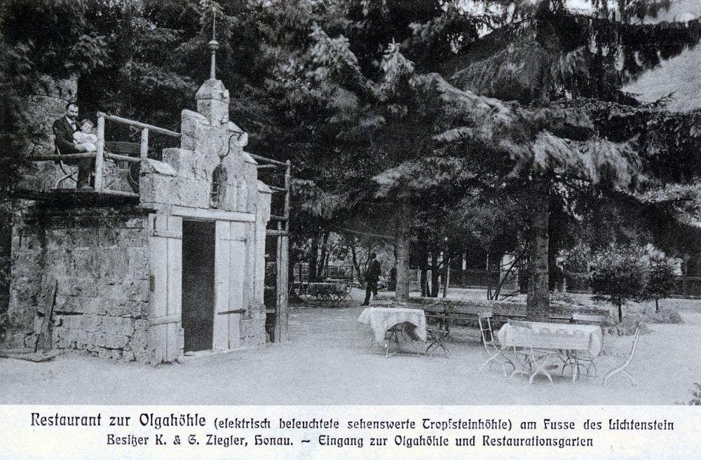 Postkarte der Olgahöhle