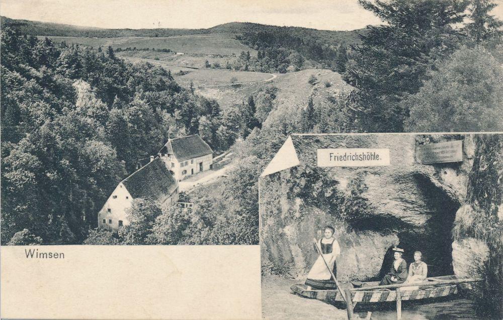 Postkarte der Wimsener Höhle