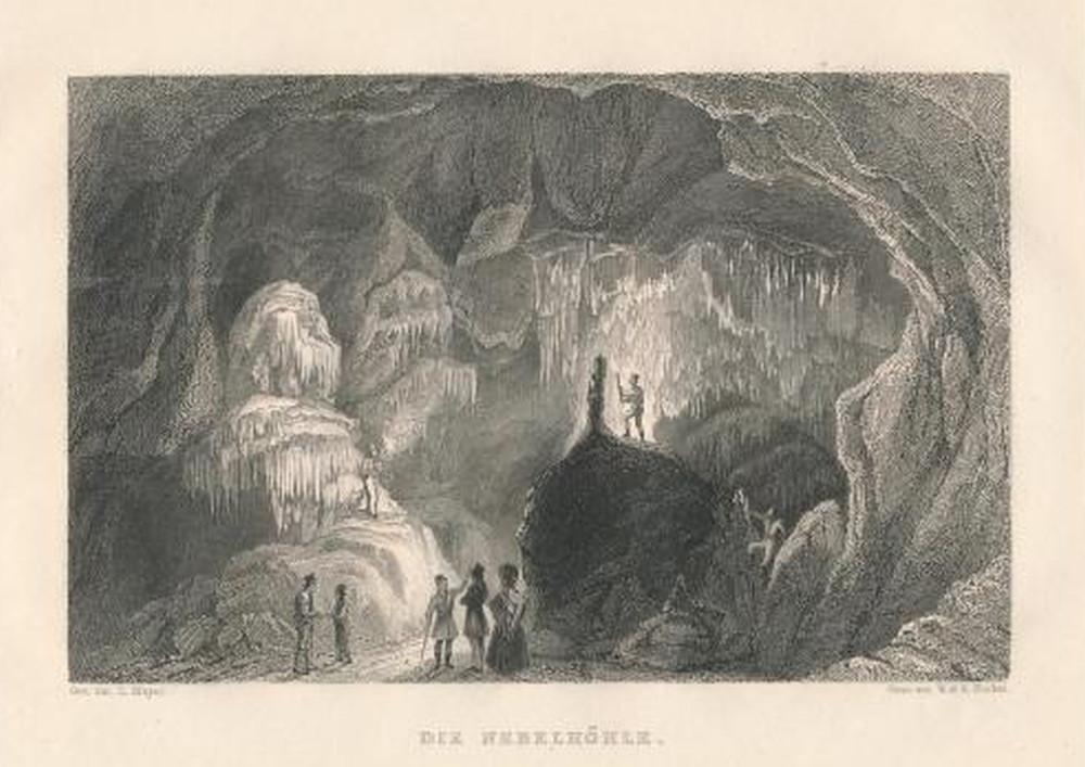 Grafik: Entdeckung der Nebelhöhle