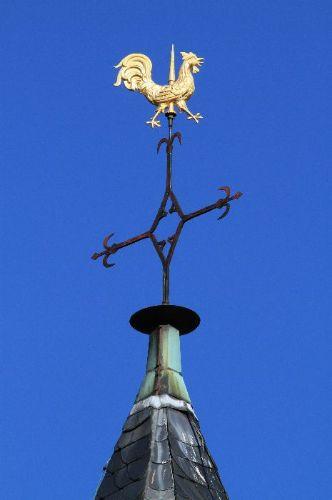 Detailaufnahme: Kirchenturmspitze Sankt Blasius Kirche