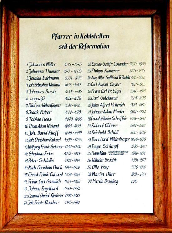 Pfarrerverzeichnis, Marienkirche