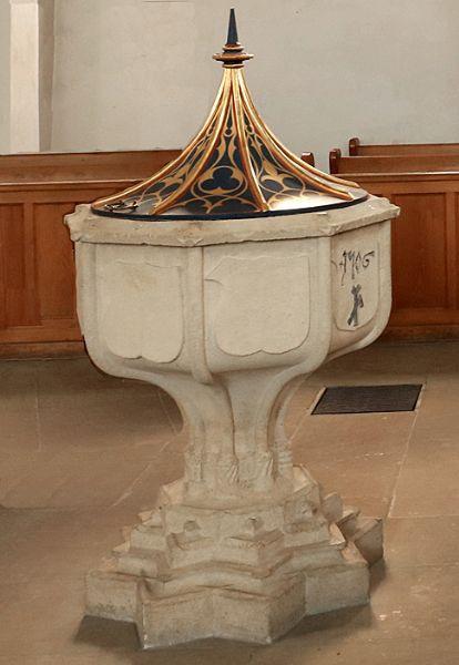 Der mittelalterliche Taufstein